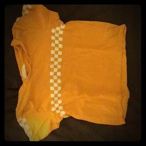 Other - Yellow crop top with white checkered paterne